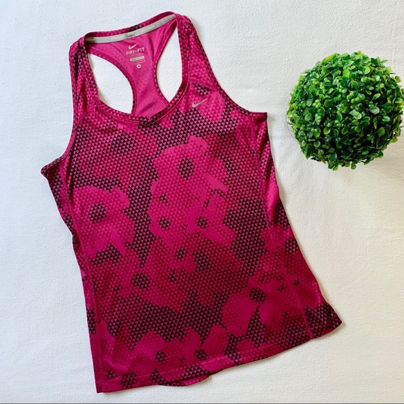 Nike Miler Dri-Fit Tank Top Pink Size Medium